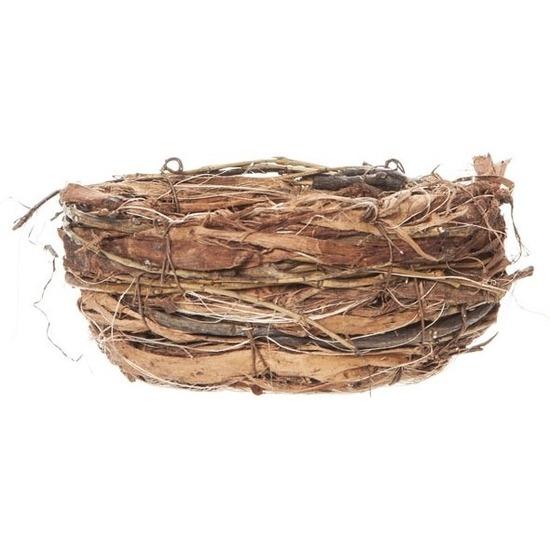 Pasen decoratie vogelnestje-paaseieren mandje 13 cm