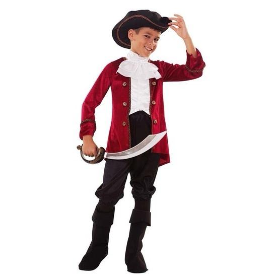 Piraten kostuum rood-zwart voor jongens