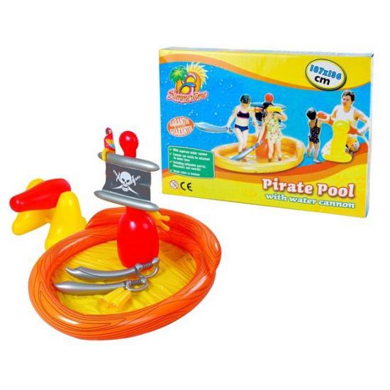 Piraten opblaas zwembad met accessoires