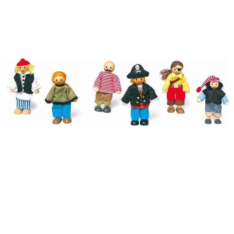 Piraten poppen speelgoed 6x