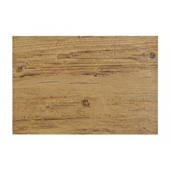 Placemat in donkerbruin woodlook print 45 x 30 cm