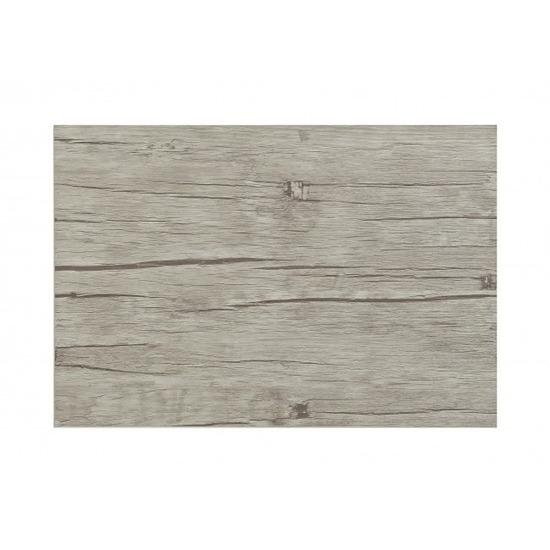 Placemat in lichtgrijs woodlook print 45 x 30 cm