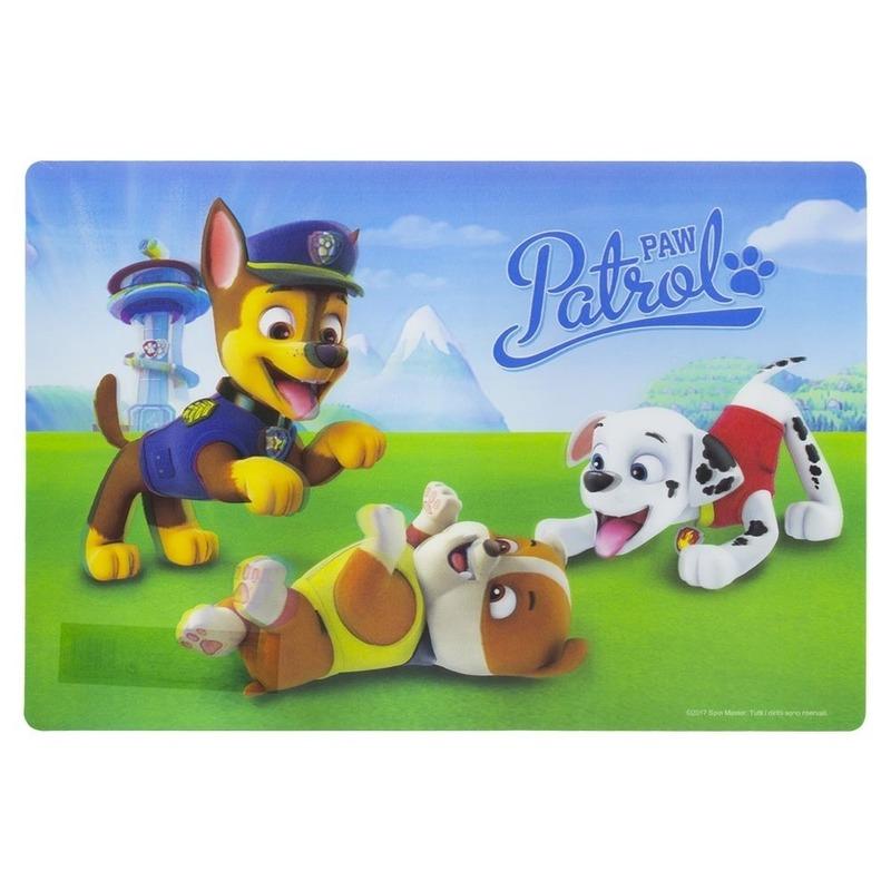 Placemat paw patrol. 3d placemat met plaatjes van paw patrol. de placemat is makkelijk afneembaar. het ...