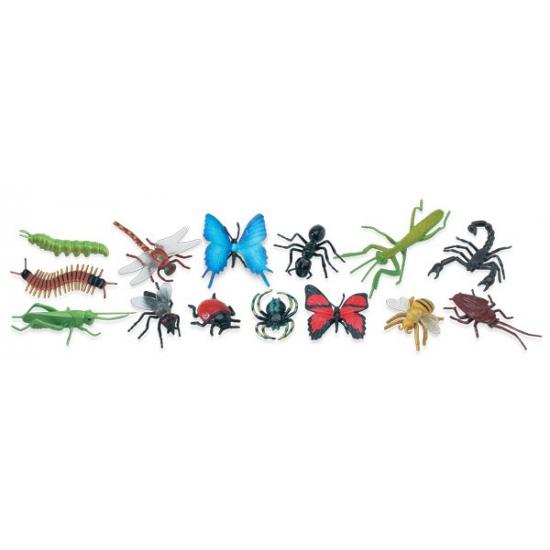 Plastic insecten speelgoed 14 stuks