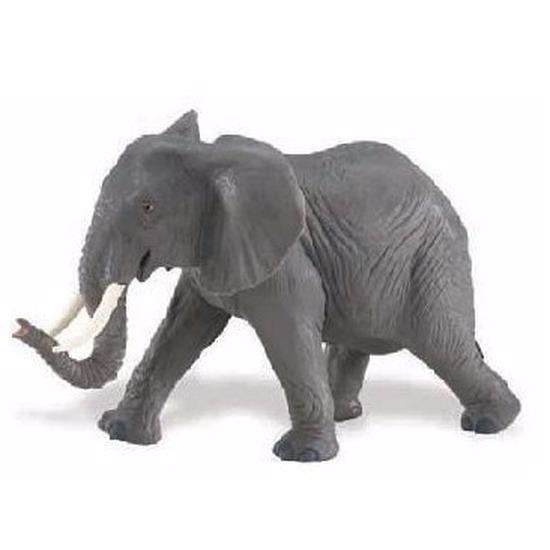 Plastic speelgoed figuur Afrikaanse olifant 16 cm