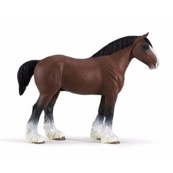 Plastic speelgoed figuur Clydesdale paard hengst 13 cm