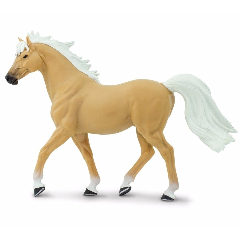 Plastic speelgoed figuur Palomino Mustang paard hengst 14 cm