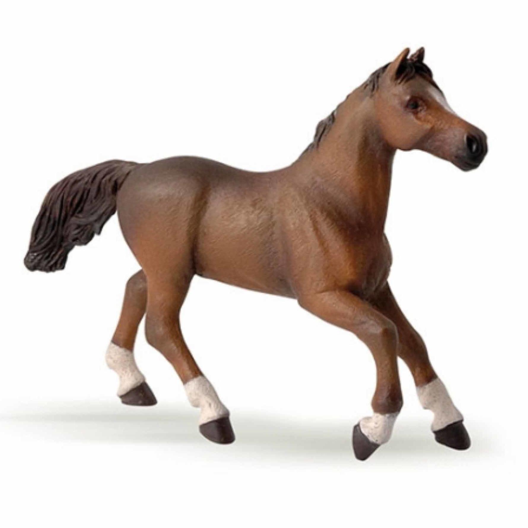 Plasticspeelgoed figuur bruin Arabieren paard 15,5 cm