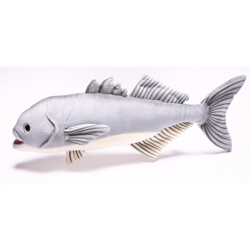 Pluche blauwbaars vissen knuffel 43 cm