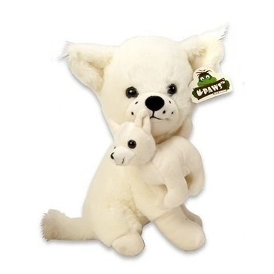Pluche Chihuahua honden knuffel wit 36 cm