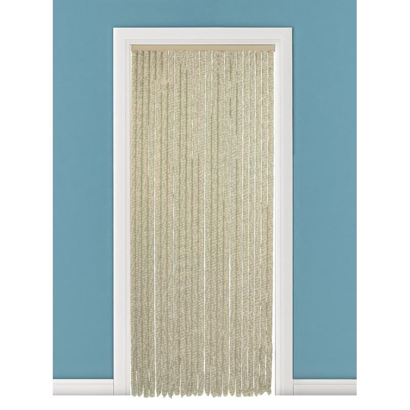 Capshopper Pluche deurgordijn beige 90 x 200 cm Tuin artikelen