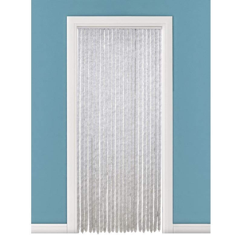 Pluche deurgordijn grijs 90 x 220 cm Capshopper Tuin artikelen