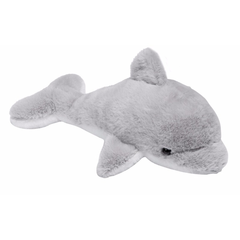 Pluche grijze dolfijn knuffel 20 cm