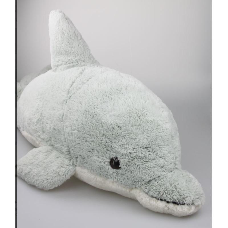 Pluche mega dolfijn knuffel lichtgroen 78 cm