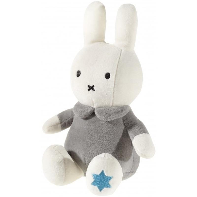 Pluche Nijntje knuffel wit-grijs 25 cm baby speelgoed