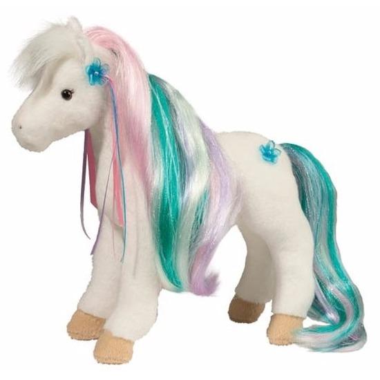 Beste kwaliteit|Dieren knuffels GeenPluche paarden knuffel multicolor 30 cm