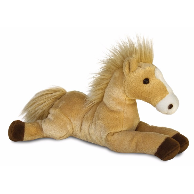 Schitterend Dieren knuffels|Pluche paarden veulens knuffel 30 cm