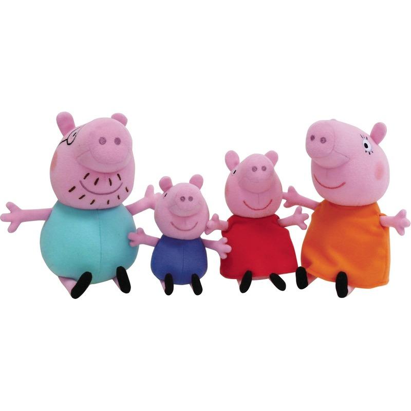 Pluche Peppa Big familie set knuffels 22 cm