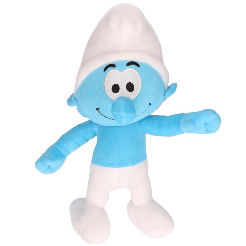 Pluche Smurf Smurfen knuffel pop 38 cm speelgoed