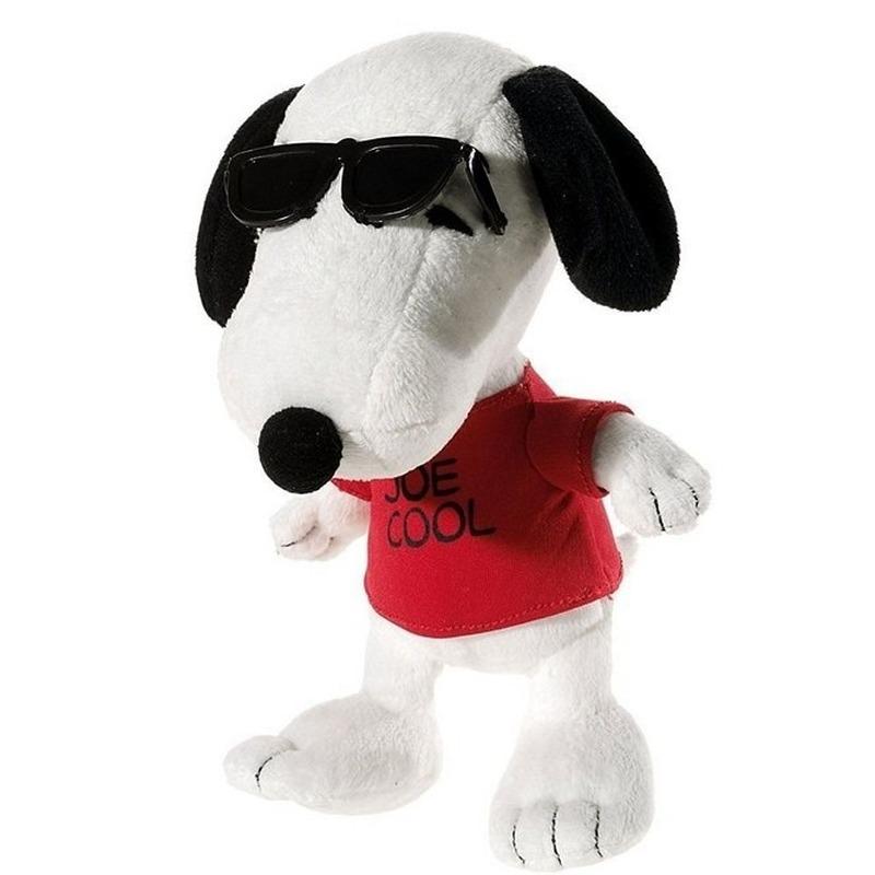 Pluche Snoopy knuffel Joe Cool 18 cm