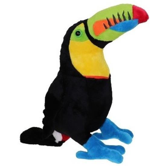 Pluche toekan vogel knuffel 37 cm