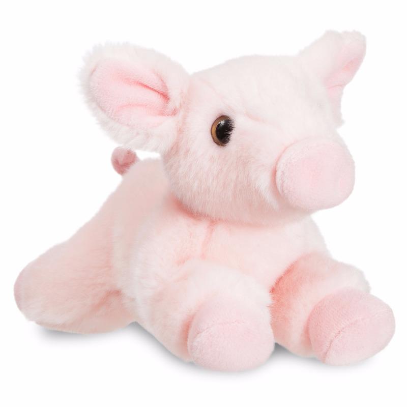 Pluche varken-big knuffel 28 cm