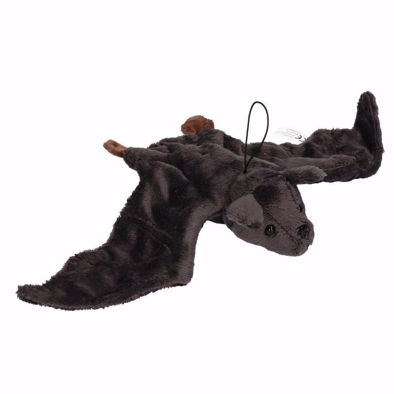 Pluche vliegende vleermuis knuffel zwart 36 cm