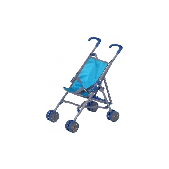 Poppen speelgoed buggy blauw