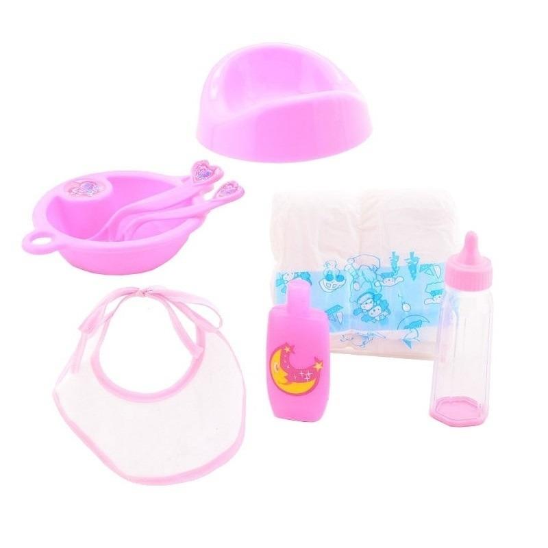 Poppen verzorging speelgoed set voor meisjes