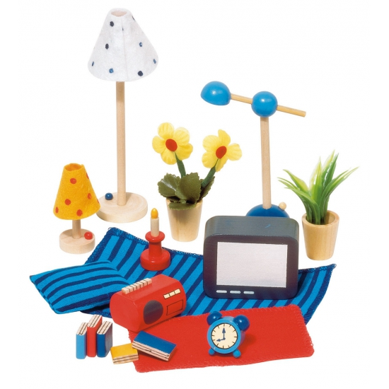 Poppen woonkamer accessoires