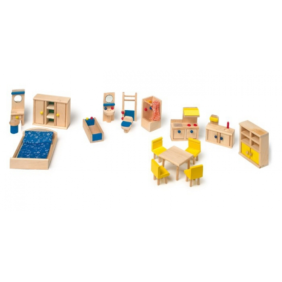 Poppenhuis meubels met keuken speelgoed
