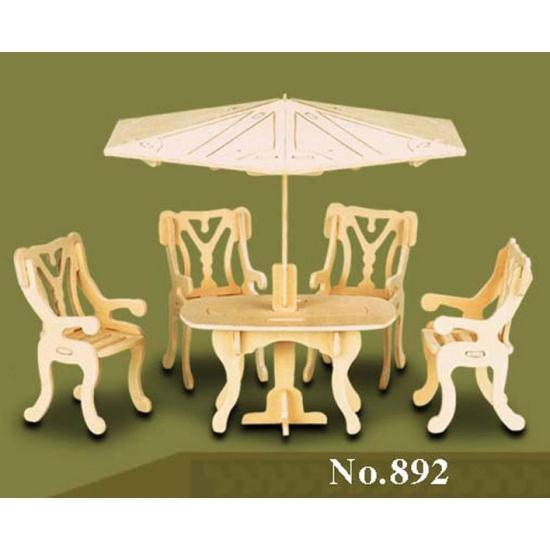 Poppenhuis meubels tuinset