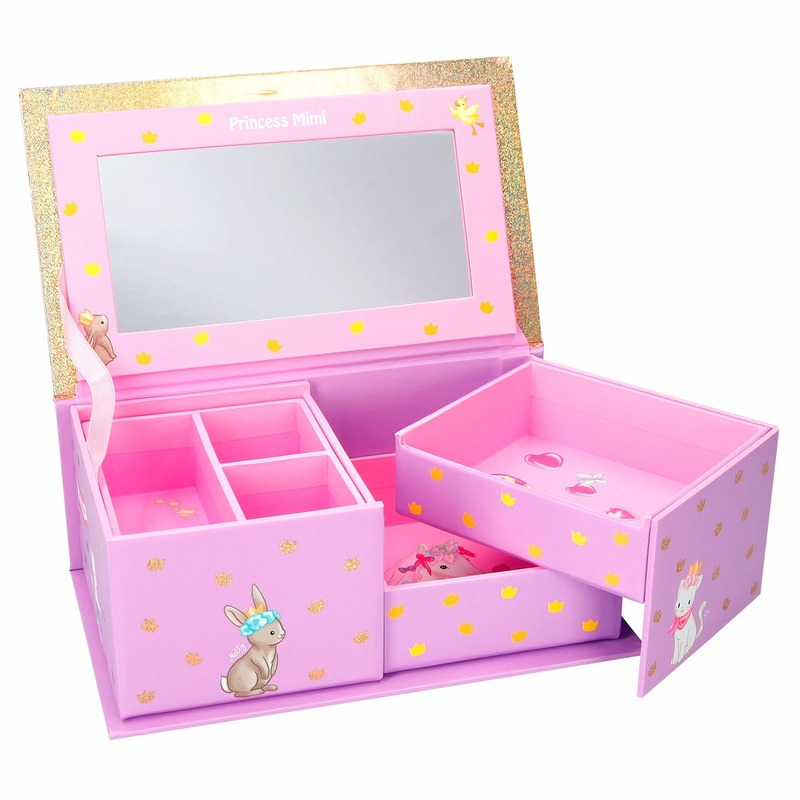 Princess Mimi pastel roze sieradendoosje prinses