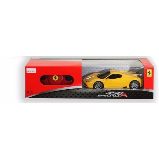 Radiografisch bestuurbare gele Ferrari 458 Speciale auto 1:24