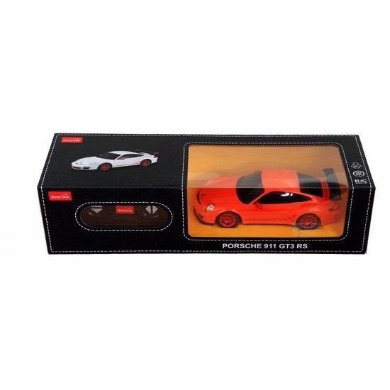 Radiografisch bestuurbare oranje Porsche 911 GTS RS auto 1:24