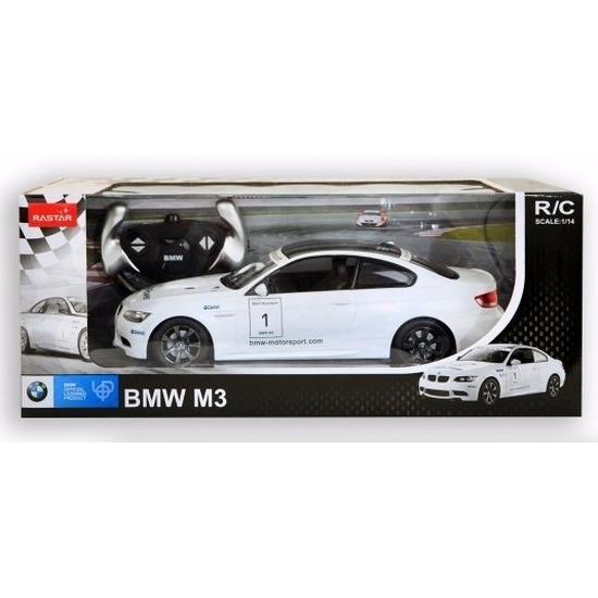 Radiografisch bestuurbare witte BMW M3 auto 1:14