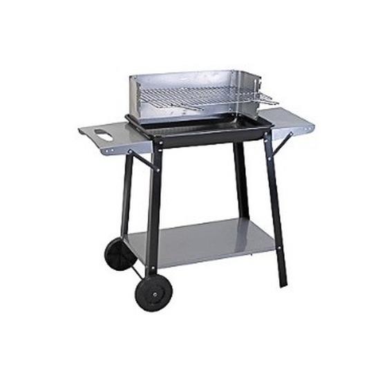 Rechthoekige barbecue-BBQ met wielen