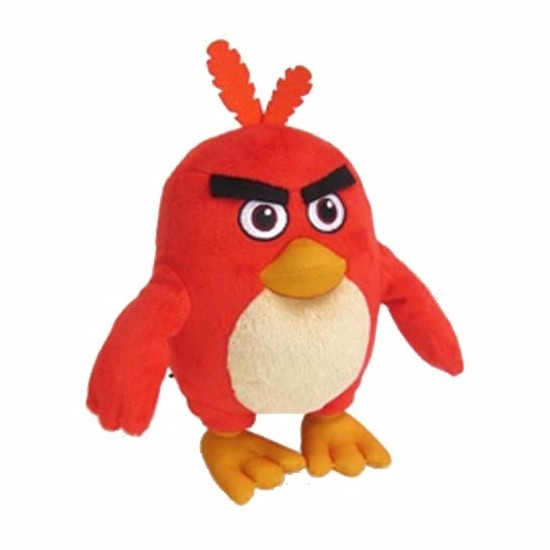 Rode Angry Birds vogel knuffel 20 cm