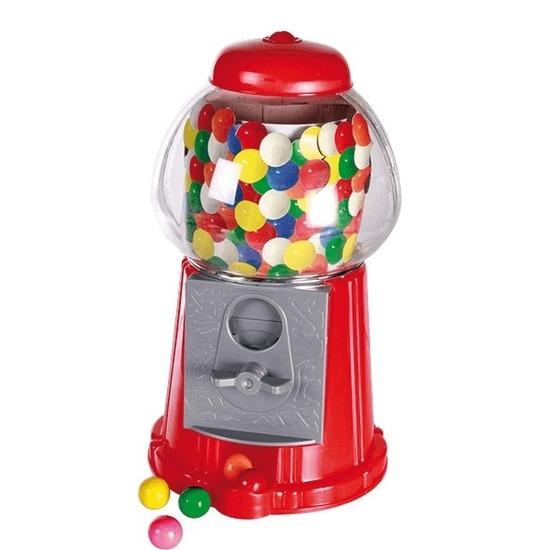 Rode kauwgomballen automaat 22 cm