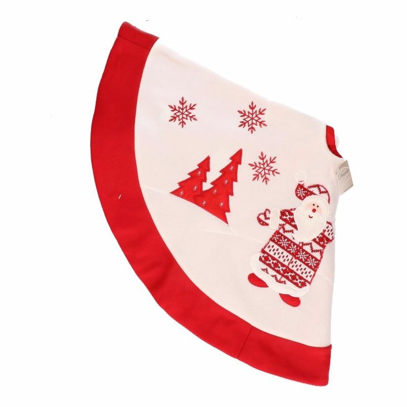 Rode kerstboomrok kleed met kerstman 90 cm