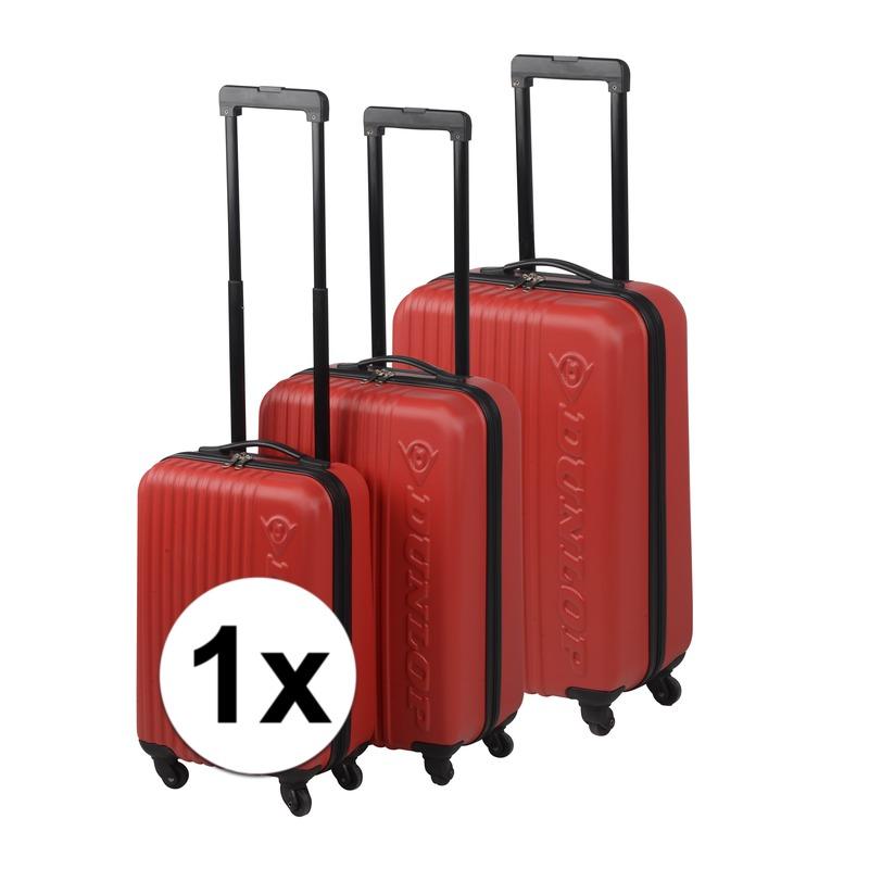 Rode koffer op wielen 69 cm