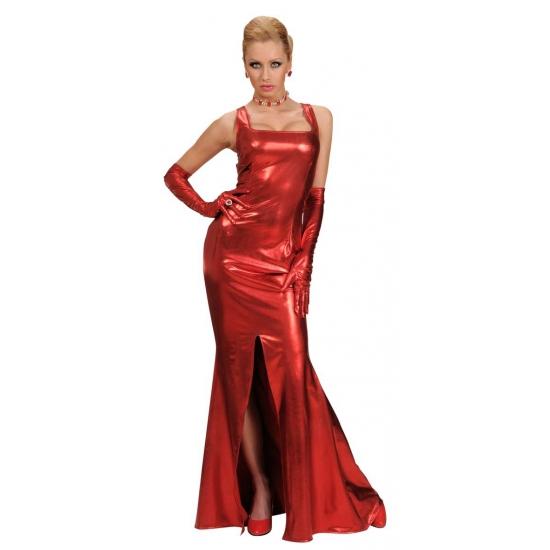 Rode lange jurk voor dames