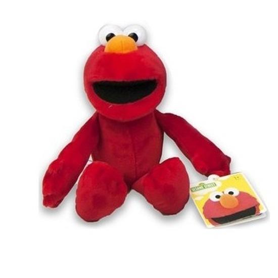 Rode pluche Elmo Sesamstraat knuffel-pop 17 cm