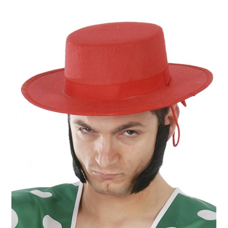 Rode Spaanse hoed voor heren