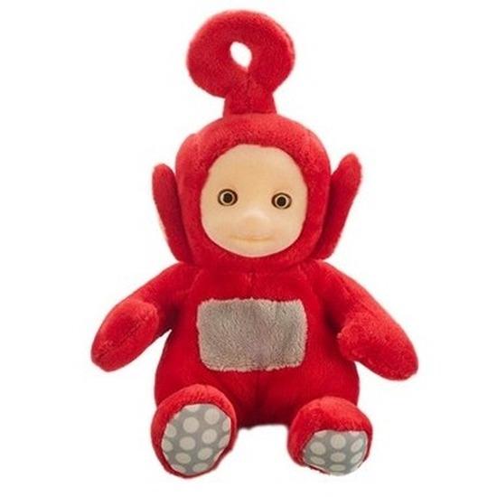 Rode Teletubbie Po knuffel-pop met geluid 20 cm