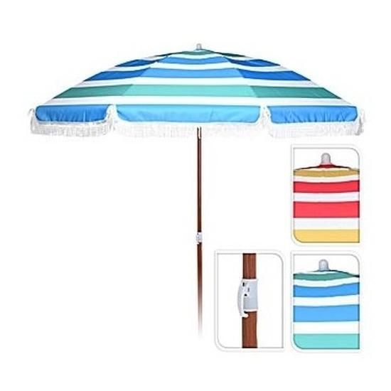 Rood-geel-witte parasol 180 cm