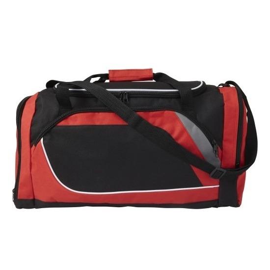 Rood met zwarte sporttas-reistas 45 liter