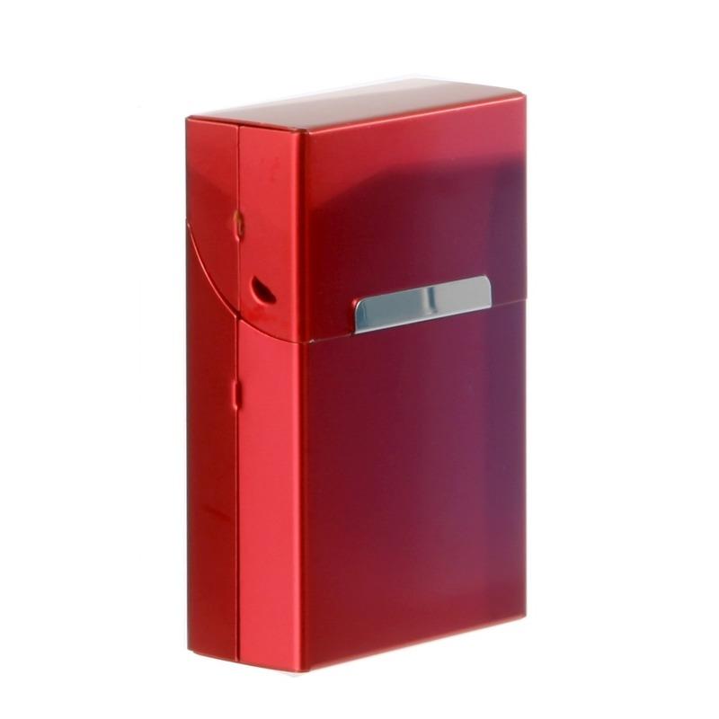 Rood sigarettendoosje aluminium