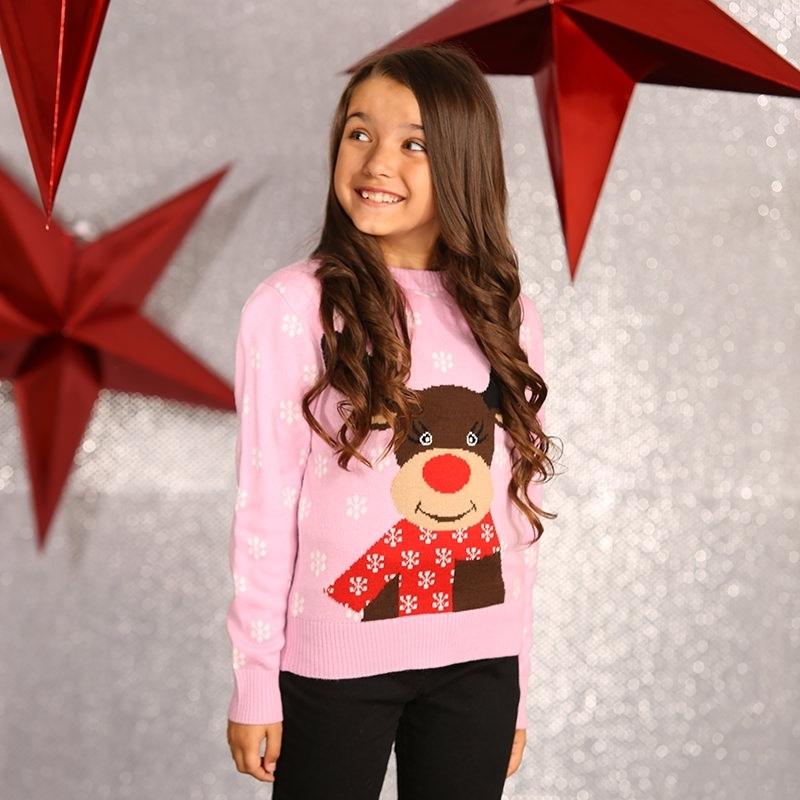 Kersttrui Meiden.Kerst Kado Foute Meiden Kersttrui Roze In Kerst Kostuums Winkel