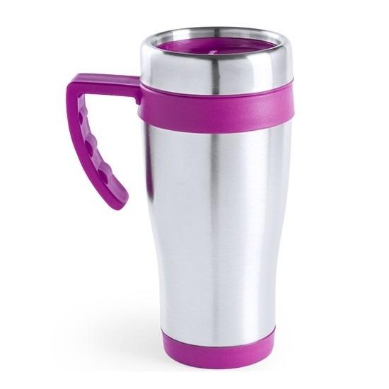 RVS thermosbeker-warm houd beker roze 500 ml